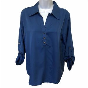 4/$25 Manhattan Blues Blouse size small